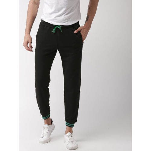 Mast & Harbour Men Black Slim Fit Solid Joggers