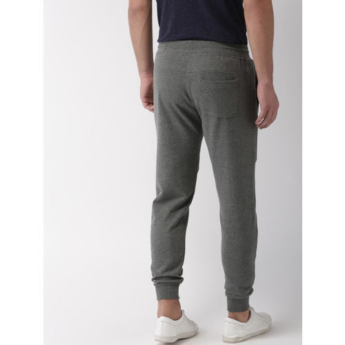Mast & Harbour Men Grey Slim Fit Solid Joggers