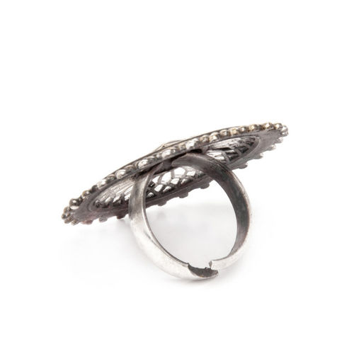 Rubans Women Silver-Plated Dual Tone Cocktail Ring
