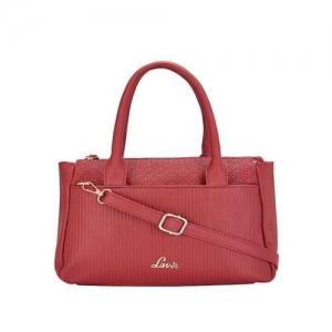 Lavie Maroon Polyurethane Textured Handbag