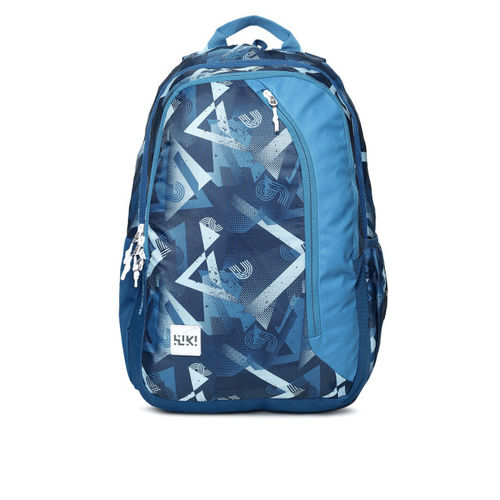 Wildcraft Blue Wiki 3 Future Printed Backpack