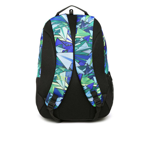 Wildcraft Unisex Blue & Black Crate Rc Graphic Print Backpack