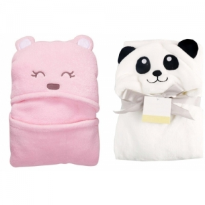 My New Born Cotton 200 GSM Bath, Face, Hand Towel Set(Pack of 2, Pink, White)