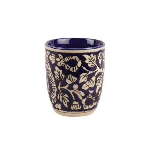VarEesha Blue & White Set Of 4 Hand-Painted Ceramic Cups