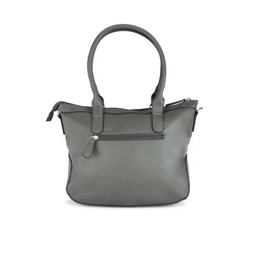 Lavie Grey Solid Shoulder Bag