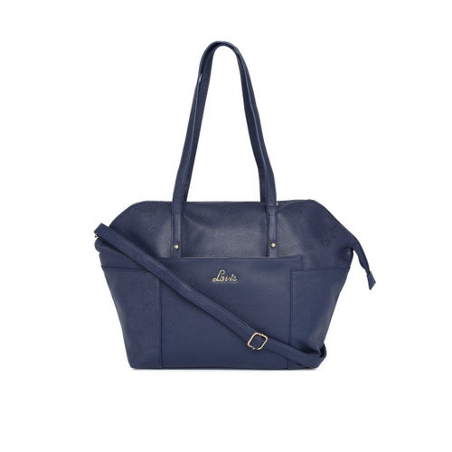 Lavie Navy Blue Solid Shoulder Bag