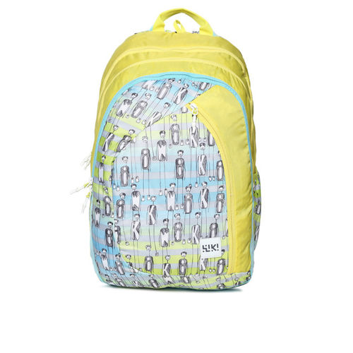 Wildcraft Yellow Graphic Backpack