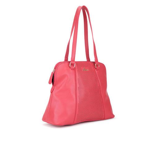 Lavie Coral Orange Solid Shoulder Bag