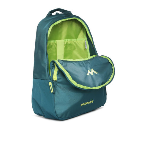 Wildcraft Unisex Teal Solid Compact Laptop Backpack