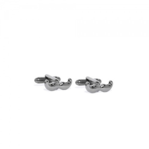 Peora Gun Metal Funky & Stylish Moustache Design Cufflinks for Men Boys Wedding Business Corporate Gift