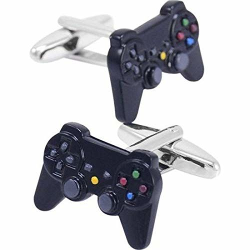 Peora 316L Stainless Steel Video Game Controller Shirt Cufflinks for Men Business Corporate Gift