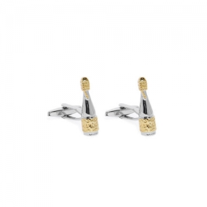 Peora Gold-Toned Quirky Cufflinks