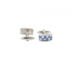 Tossido Silver Brass Cufflinks for Men (CLM337)