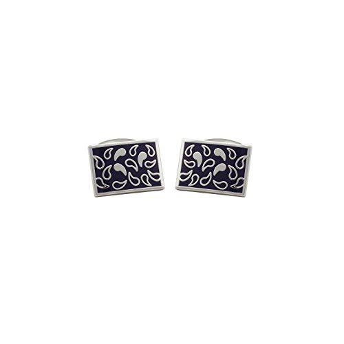 Tossido Silver Brass Cufflinks for Men (CLM362)