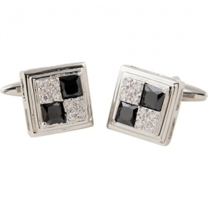 Tossido Silver Brass Cufflinks for Men (CLM339)