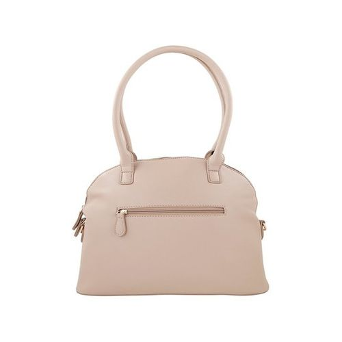 Lavie Pema Beige Textured Quilted Handbag