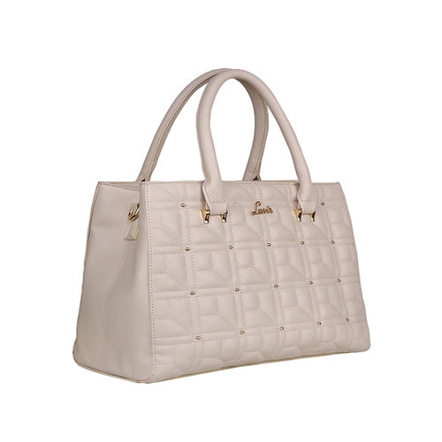 Lavie Nango Beige Textured Quilted Handbag