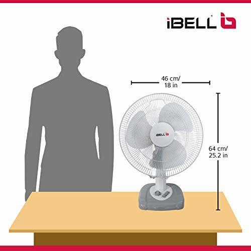 iBELL IBL CADIE T2 Table Fan 55-Watt 3 Leaf