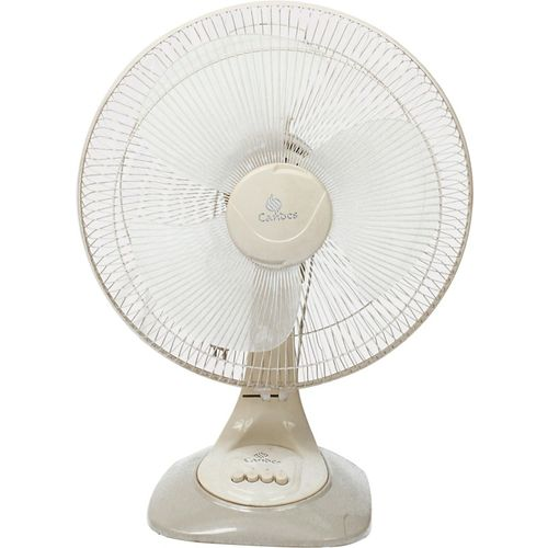 Candes 16 inch Velocity Jerk free Ocillation 3 Blade Table Fan(Ivory, Pack of 1)