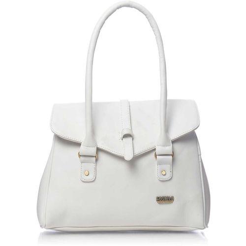 Fostelo White Polyurethane Solid Shoulder Bag