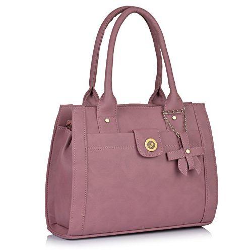 Fostelo Women's Combo Handbag & Clutch (Light Pink & Light Pink) (FSB-1200-FC-39)