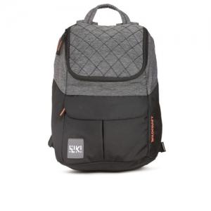 Wildcraft Wiki 6 Jacquard Black & Grey Unisex Backpack
