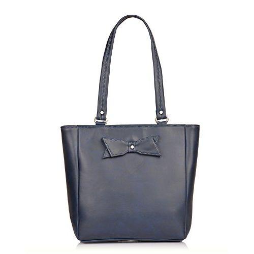Fostelo Women's Combo Handbag & Clutch (Blue & Blue) (FSB-1268-FC-16)