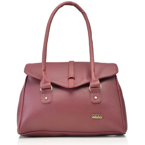 Fostelo Maroon Polyurethane Shoulder Bag