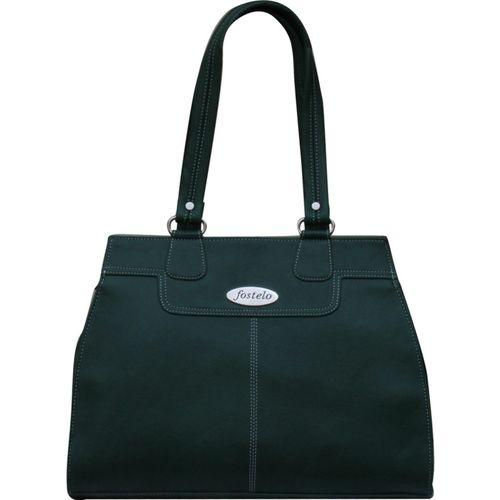 Fostelo Green Polyurethane Solid Shoulder Bag