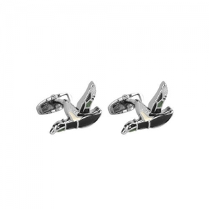 JEWEL JUNCTION Silver-Toned Quirky Cufflinks