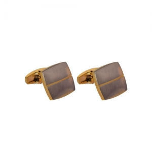 JEWEL JUNCTION Gold-Toned Square Cufflinks