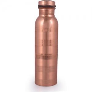 Ziyana Handmade Premium Pure Copper Water Bottle 1000 ml Bottle(Pack of 1, Brown)