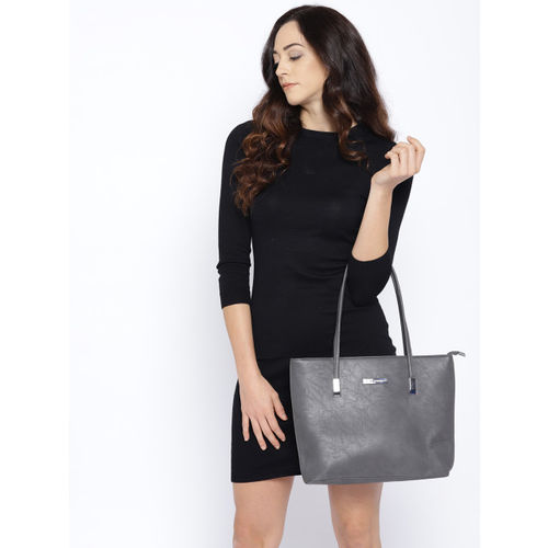 Lino Perros Grey Solid Shoulder Bag