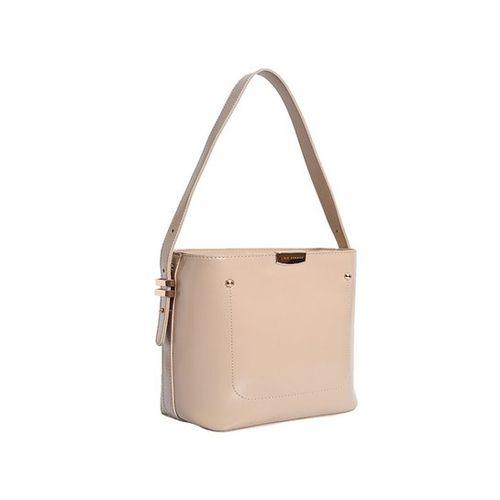 Lino Perros Cream Stitched Handbag