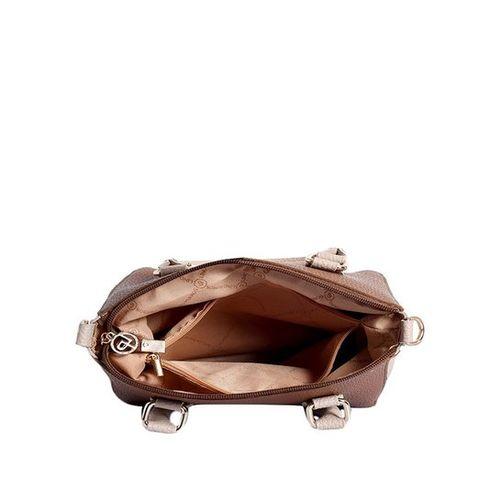 Lino Perros Tan & Ivory Solid Handbag