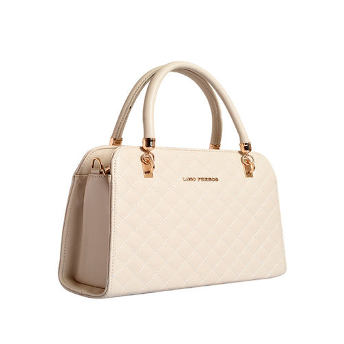 Lino Perros Ivory Textured Quilted Handbag