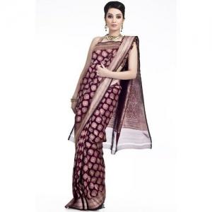 Chhabra555 Chhabra555 Brown Georgette Banarasi Saree