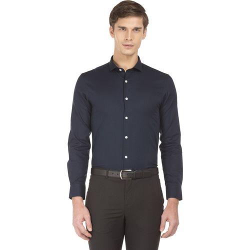 U.S. Polo Assn Men Self Design Casual Dark Blue Shirt