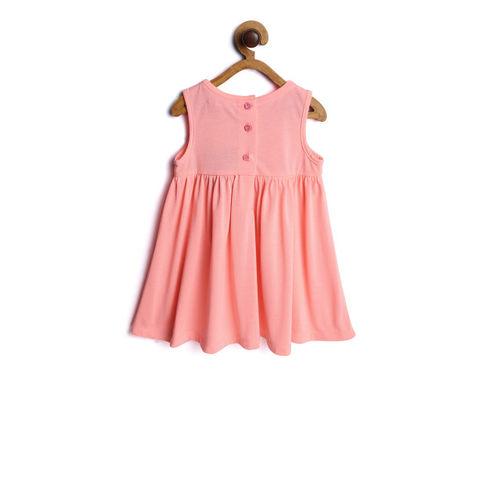 Nauti Nati Girls Orange Embroidered Empire Dress