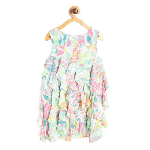 Nauti Nati Girls Multicoloured Printed Fit and Flare Dress