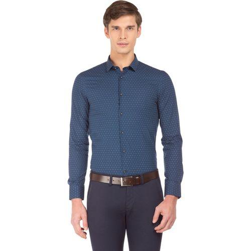 U.S. Polo Assn Men Solid Casual Blue Shirt
