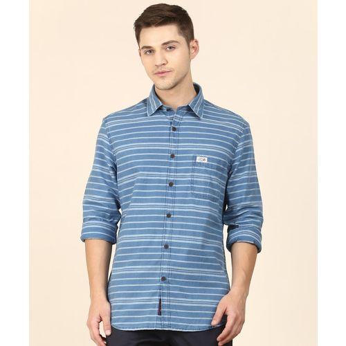 U.S. Polo Assn Men's Striped Casual Blue Shirt