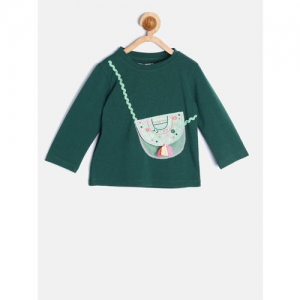 Nauti Nati Girls Green Top with Applique Detail