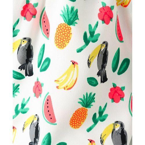 Nauti Nati Fruits Print Asymmetrical Neck Sleeveless Jumpsuit - Multi Color