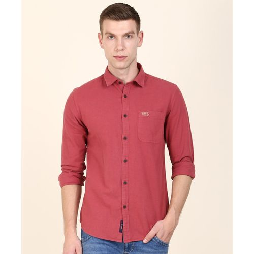 U.S. Polo Assn Men Solid Casual Maroon Shirt