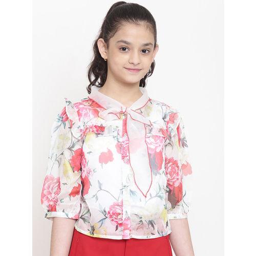 Nauti Nati Girls Multicoloured Regular Fit Printed Casual Shirt