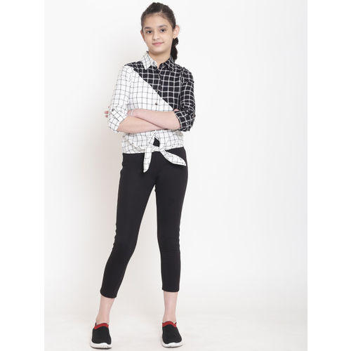 nauti nati Girl's Plain Regular fit Shirt