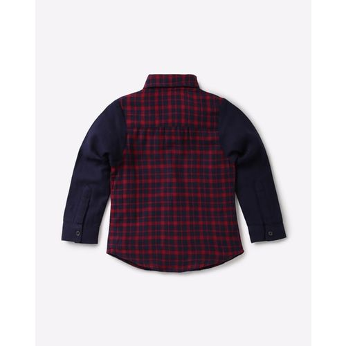 NAUTI NATI Checked Shirt with Contrast Sleeves