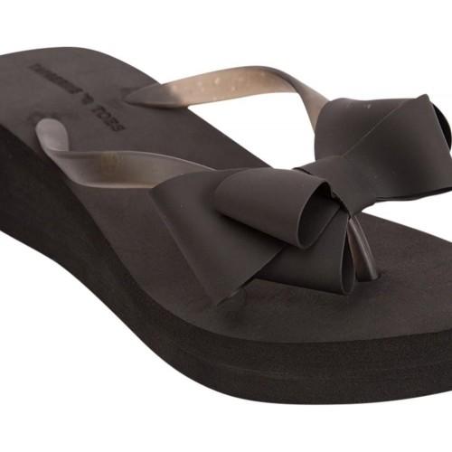 ab73ba01a1420a Buy Tangerine Toes Black Flip Flops online