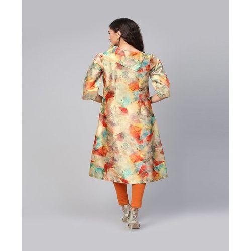 Inddus Multicolored Printed A Line Kurti